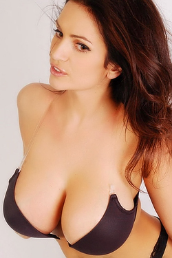 Busty Denise Milani In Tight Bra